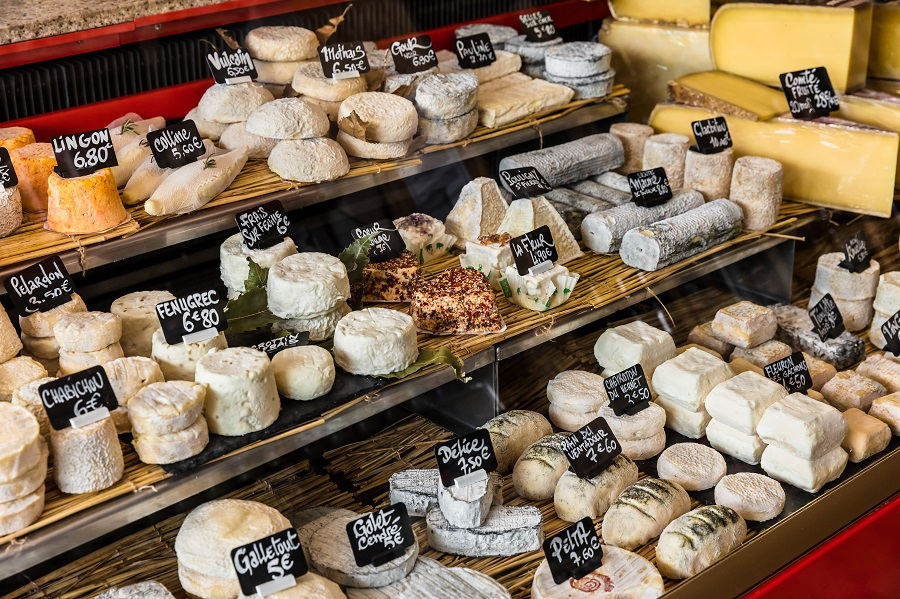 étalage de fromages